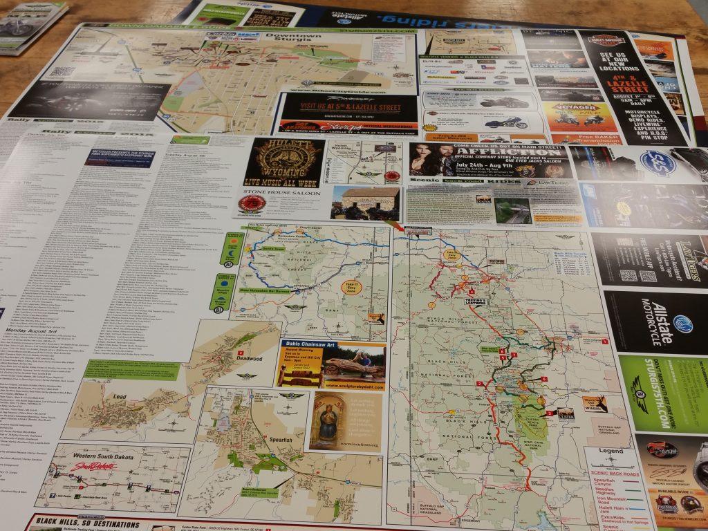 Biker event map downloads